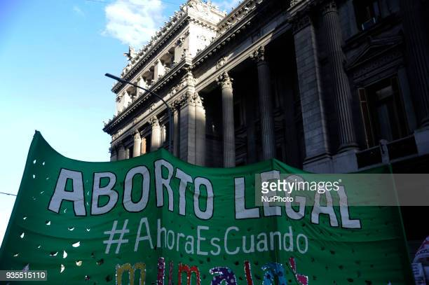 The debate on abortion began this afternoon at the national congress on March 20 2018 in Buenos Aires Argentina