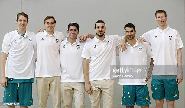 The debutants in this year's team Cameron Bairstow, Ryan Broekhoff, Damian Martin, Chris Goulding, Kevin Lisch and Brock Motum poses during the...