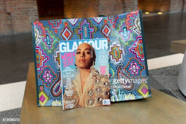 The December 2017 issue of Glamour magazine during Glamour Celebrates 2017 Women Of The Year Live Summit at Brooklyn Museum on November 13 2017 in...