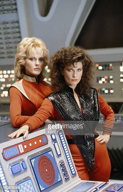 V The Deception Episode 4 Aired 11/9/84 Pictured June Chadwick as Lydia Jane Badler as Diana Photo by Gene Trindl/NBCU Photo Bank