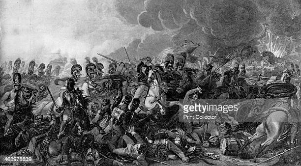 The decisive charge of the Life Guards at the Battle of Waterloo, 1815 . A print from The Navy and Army Illustrated, 21st October 1896.