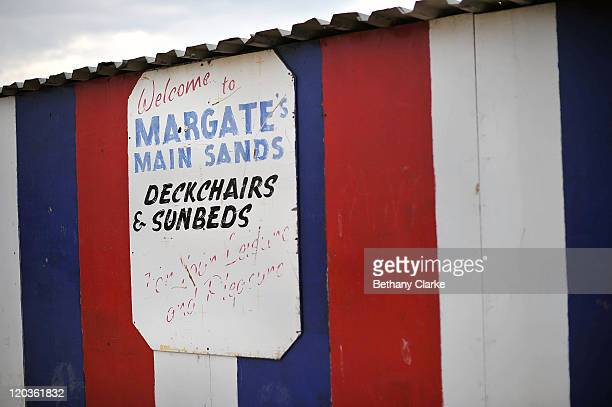 The deck chair stall on Margate Main Sands beach on August 2 2011 in Margate England The east Kent seaside town of Margate is currently undergoing...
