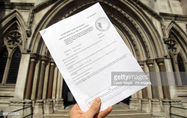The decree nisi divorce papers of Cheryl and Ashley Cole outside the High Court in London Cheryl Cole's fouryear marriage to footballer husband...