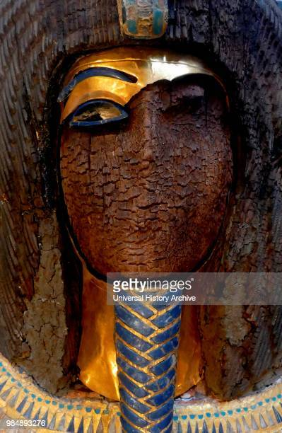 The defaced sarcophagus of King Akhenaten of Egypt The sarcophagus was found in Tomb KV55 in the Valley of the Kings in Egypt It was discovered by...