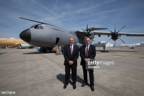 The Defence Minister Gerard Longuet in Toulouse visit Military Airbus A week after the signing Thursday in Seville of the final contract for the...