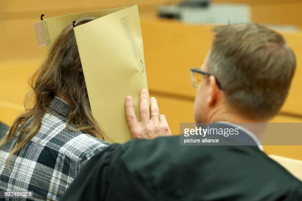 The defendant Andres P sitting during the trial for involuntary manslaughter with his lawyer Bernhard Loewenbergat the district court of...