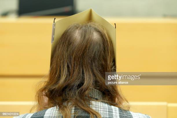 The defendant Andres P sitting in the courtroom for the trial for involuntary manslaughterat the district court of WuerzburgGermany 18 October 2017...