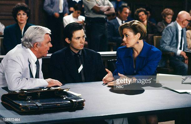 MATLOCK The Defense Episode 9 Pictured Andy Griffith as Benjamin Matlock David Kaufman as Danny Hayes Nancy Stafford as Michelle Thomas