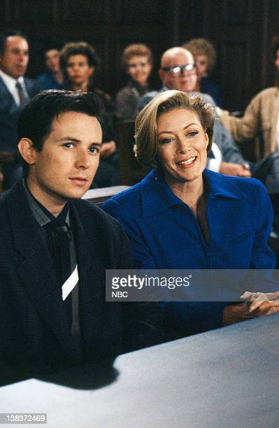 MATLOCK The Defense Episode 9 Pictured David Kaufman as Danny Hayes Nancy Stafford as Michelle Thomas