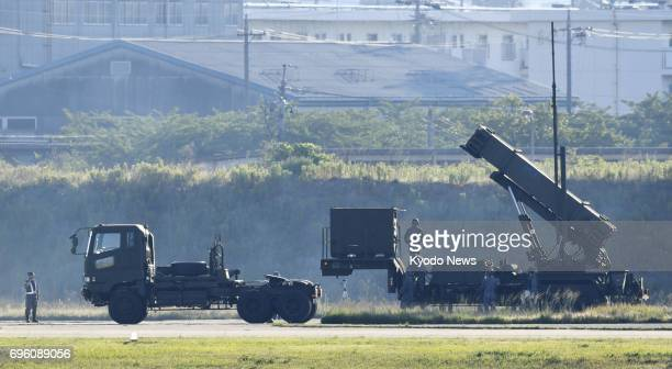 The Defense Ministry conducts training to mobilize the Air SelfDefense Force's Patriot Advanced Capability3 system at its Komaki base in central...