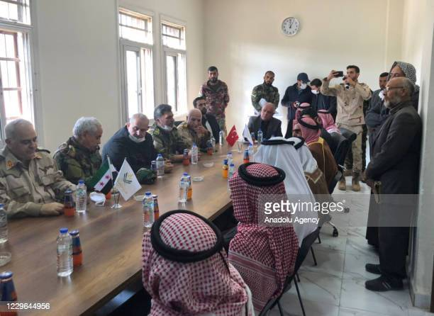 The Defense Ministry delegation led by Syrian Interim Government's Defense Minister Salim Idris hold a meeting with the region's senior figures...