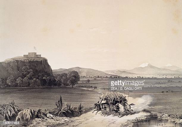 The defense of the Castle of Chapultepec against the Americans in 1847. Mexican-American War, Mexico, 19th century.