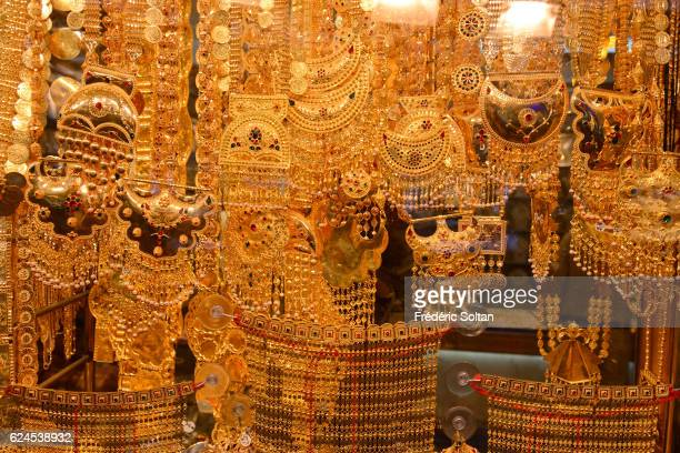 The Deira golden souk in Dubai the most important in the world On January 2016 in Dubai United Arab Emirates