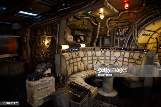 The Dejarik chess table is seen inside the Millennium Falcon during a media preview of Star Wars: Galaxy's Edge at Walt Disney Co.'s Disneyland theme...