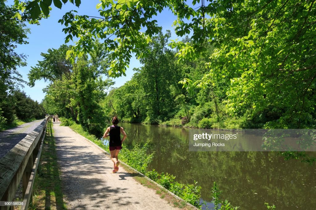 The Delaware River trail or Delaware and Raritan State Canal
