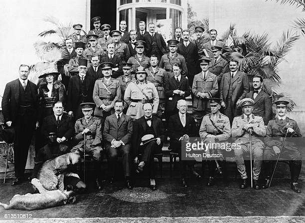 The delegates of the Mespot Commission at the Cairo Conference The group was set up by Colonial Secretary Winston Churchill to discuss the future of...