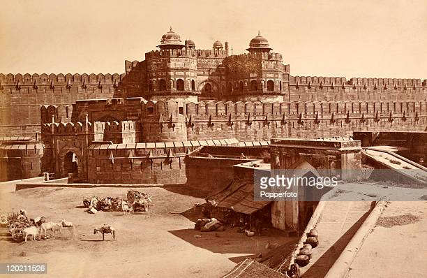 The Delhi Gate in the Fort at Agra, circa 1890.