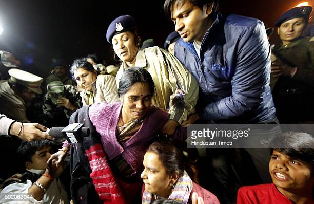The Delhi Police detain the mother of Nirbhaya along with the protestors who were protesting against the release of the juvenile convict in the...