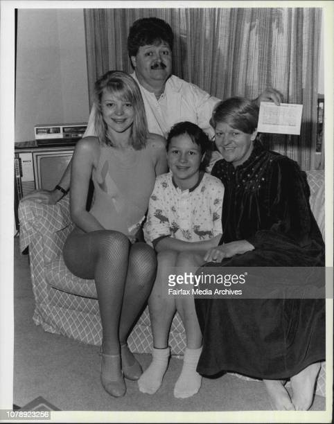The delighted Hunt family pictured at their Wollstonecraft home today Wife Lesley Sugar Baby Amanda 16 Charles Natasha 13 October 28 1986