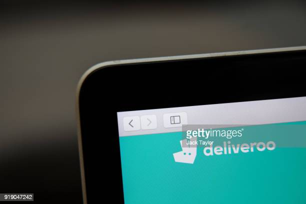 The Deliveroo icon is displayed on a laptop on February 16 2018 in London England Millions of parttime and flexible workers in the socalled gig...