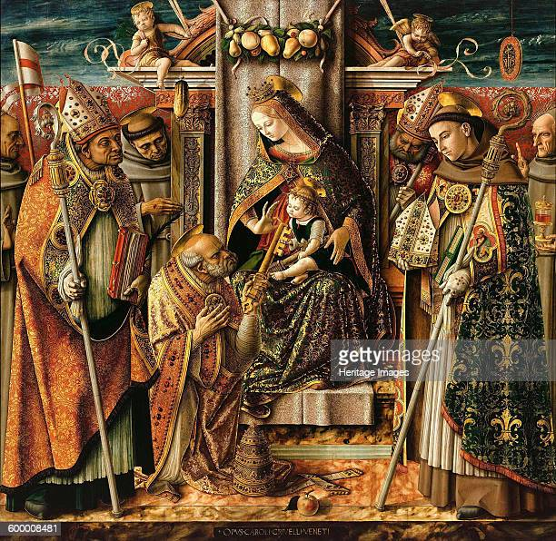The Delivery of the Keys c 1490 Found in the collection of Staatliche Museen Berlin Artist Crivelli Carlo