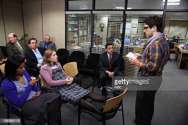 THE OFFICE The Delivery Part 1 Episode 618 Pictured Mindy Kaling as Kelly Kapoor Craig Baumgartner as Kevin Malone Ed Helms as Andy Bernard Creed...