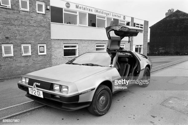 The DeLorean DMC12 sports car manufactured by the DeLorean Motor Company Pictured at company offices of Metalrax Holdings Limited Birmingham 9th...