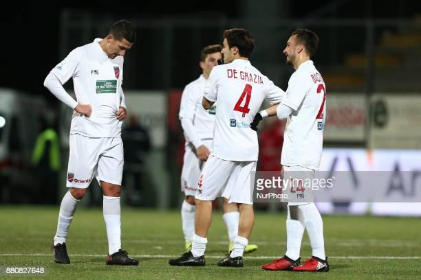 The delusion of the Teramo Calcio Player during the Lega Pro 17/18 group B match between Teramo Calcio 1913 and SS Sambenedettese at Gaetano Bonolis...
