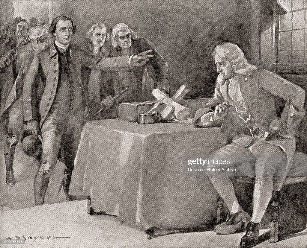 The demand upon Governor Dunmore by Patrick Henry in 1775 : News Photo