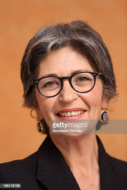 The Democratic Party leader of the Italian Senate Anna Finocchiaro posing smiling Rome 30th March 2012