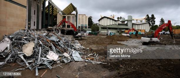 The demolition continues at the Los Angeles County Museum of Art as a $750 Million renovation continues in Los Angeles on May 18, 2020. Some outdoor...