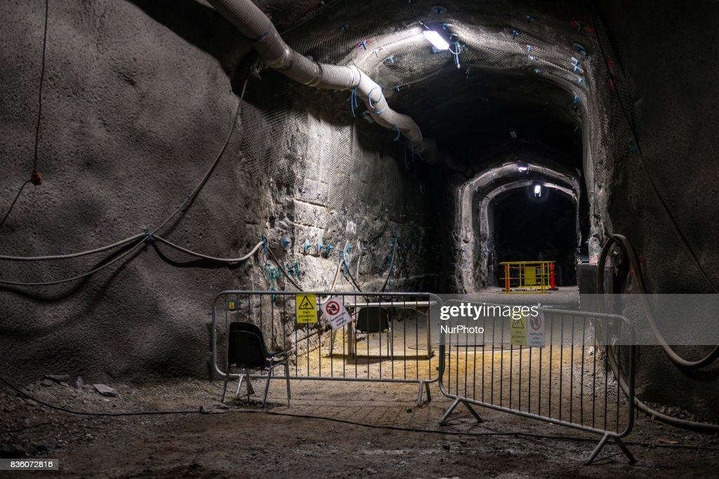 The demonstration tunnel approximately 420 meters underground in Posiva's spent nuclear fuel repository ONKALO in Olkiluoto, Eurajoki, Finland on 17 August 2017.