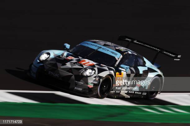 The Dempsey-Proton Racing Porsche 911 RSR of Matt Campbell, Christian Ried and Riccardo Pera drives during the FIA World Endurance Championship race...