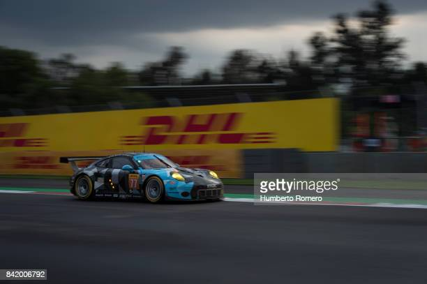 The DempseyProton Racing team drives during practice for the FIA World Endurance Championship at Hermanos Rodriguez Race Track on September 02 2017...