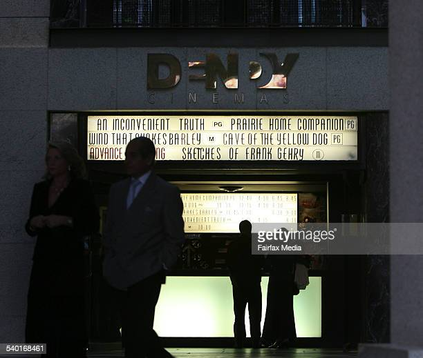 The Dendy Cinema Opera Quays where a number of thefts have taken place inside the theatre Circular Quay Sydney 6 October 2006 SHD Picture by JANIE...