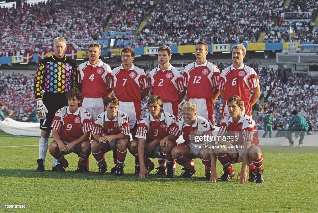 Denmark At Euro 1992 Final : News Photo