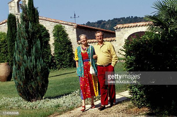 The Denmark Royal couple on vacation in Chateau de Caix In Luzech France On August 121993