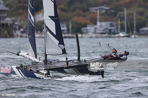 The Denmark team of Frederik Just Melson and Markus Oliver Nielsen in action during the Red Bull Foiling Generation World Final 2016 on October 22...