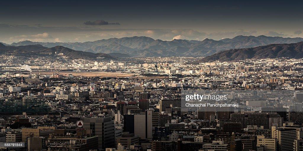 The density of Osaka city : Foto stock