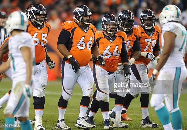 The Denver Broncos offensive line Louis Vasquez Manny Ramirez Will Montgomery Orlando Franklin and Ryan Clady turned in a better performance against...