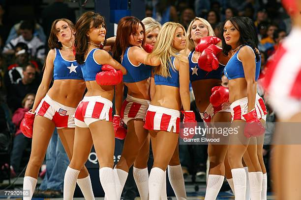 The Denver Nugget Dancers perform during their game against the Portland Trail Blazers on November 14 2007 at the Pepsi Center in Denver Colorado...