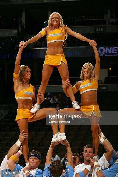 The Denver Nuggets cheerleaders perform against the New Orleans Hornets on November 4 2007 at the Pepsi Center in Denver Colorado NOTE TO USER User...
