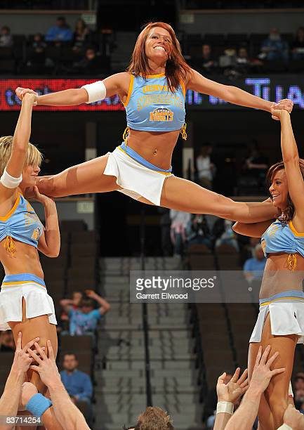 The Denver Nuggets cheerleaders perform before the game against the Minnesota Timberwolves on November 16 2008 at the Pepsi Center in Denver Colorado...