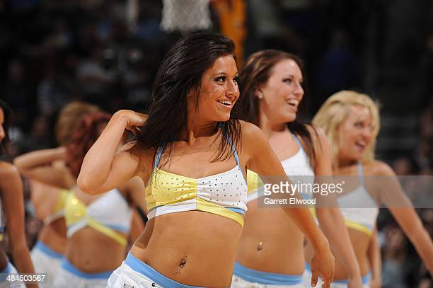 The Denver Nuggets dance team performs during a game against the Utah Jazz on April 12 2014 at the Pepsi Center in Denver Colorado NOTE TO USER User...
