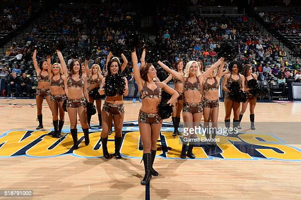 The Denver Nuggets dancers before the game against the Sacramento Kings on April 2 2016 at Pepsi Center in Denver Colorado NOTE TO USER User...