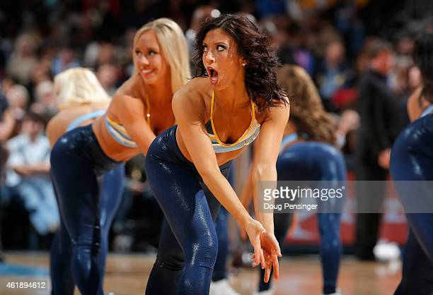 The Denver Nuggets Dancers perform during a break in the action against the Orlando Magic at Pepsi Center on January 7 2015 in Denver Colorado The...