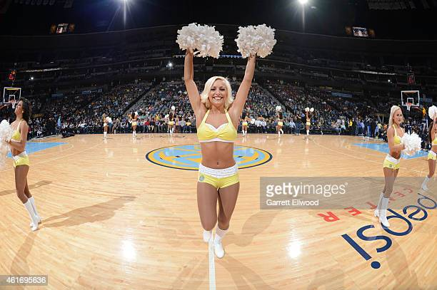 The Denver Nuggets dancers perform during the game against the Minnesota Timberwolves on January 17 2015 at Pepsi Center in Denver Colorado NOTE TO...