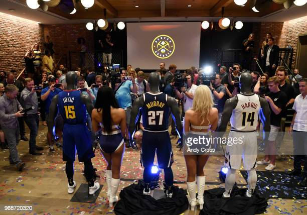 The Denver Nuggets unveiled their new uniforms and logos at the Evolve VIP party at the Dairy Block in downtown Denver June 06 2018
