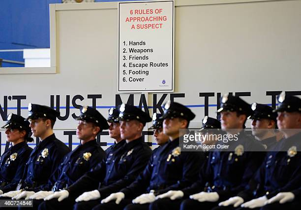 The Denver Police Department graduates 29 new officers to the police force on Friday Dec 19 2014 at the police Training Academy in Denver The class...