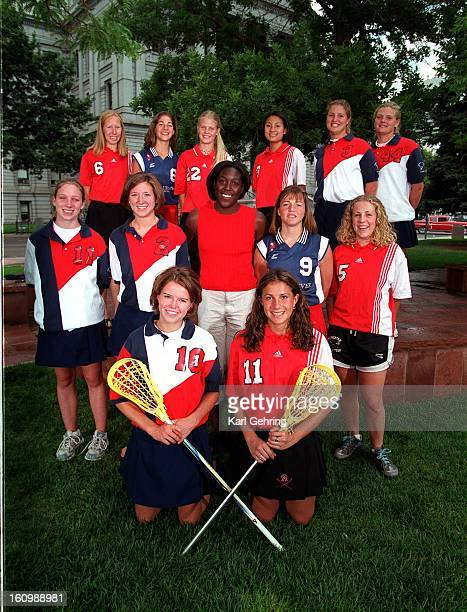 The Denver Post 2000 AllColorado girls lacrosse team front row left to right Lindsey Welch Cherry Creek Darcy Craig Colorado Academy Middle row left...